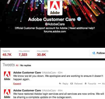 Adobe Apologizes for Creative Cloud Outage