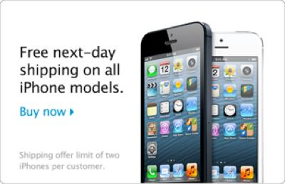 iPhone 5 Free Next Day Shipping