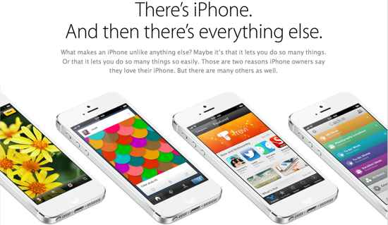 iPhone 5 Free New Ad on Web Site