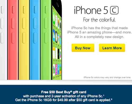 iPhone 5C being Discounted at Best Buy
