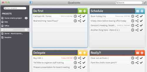 Quadranto Productivity App