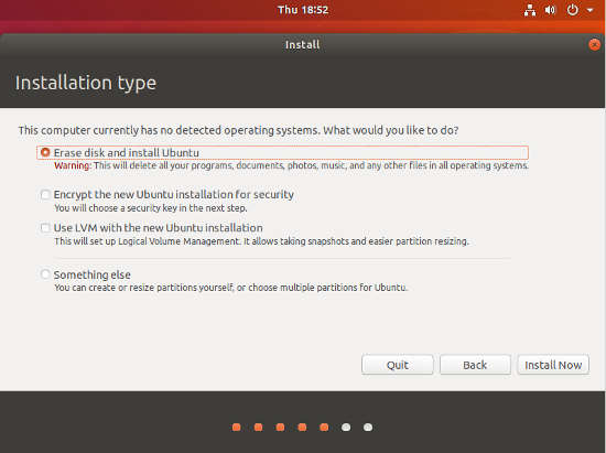 Ubuntu 18.04 Installation Steps